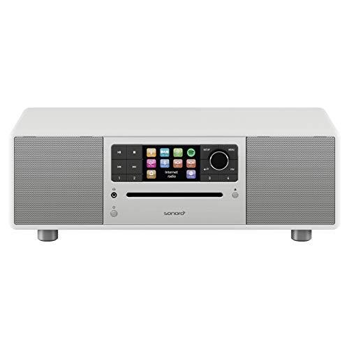 sonoro Prestige 2.1 Kompaktanlage (UKW/FM/DAB/DAB+/WLAN, CD-Player, AUX-in, aptX Bluetooth, Multiroom, Spotify Connect) Weiß - Digital Internet-Radio