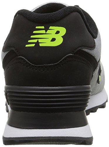 New Balance WL574 B, Baskets Mode Femme Gris (Wta Grey/Black/Yellow)
