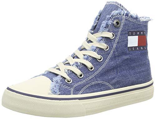 Casual Schuhe Jeans (Tommy Hilfiger Damen WMN Hightop Tommy Jeans Sneaker, Blau (Denim 404), 42 EU)