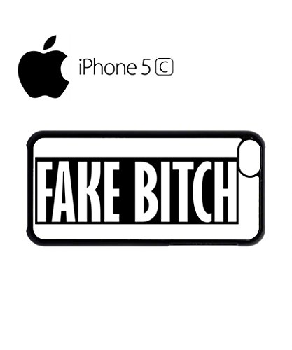 Fake B*itch Cool Vintage Mobile Cell Phone Case Cover iPhone 5c Black Weiß