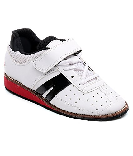 RXN Weight Lifting Shoe Size UK 8 (White/Red/Black)