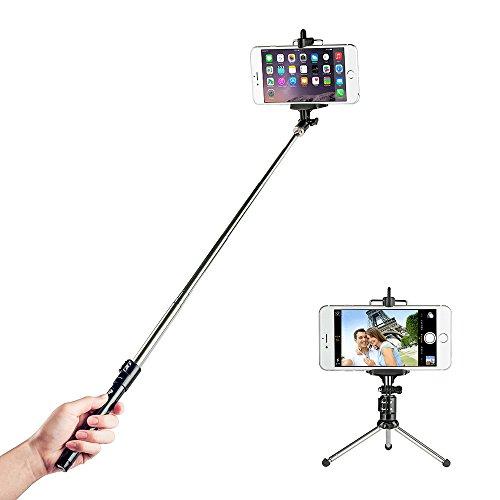 Perche de Selfie stick Bluetooth avec trépied sans fil TaoTronics (N'est pas supporté pour WINDOWS PHONE ni Blackberry)