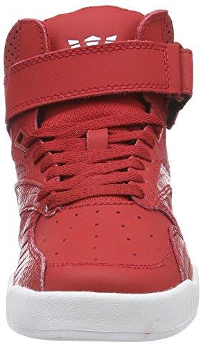 Supra BLEEKER Unisex-Erwachsene Hohe Sneakers Rot (CARDINAL - WHITE   CAR)