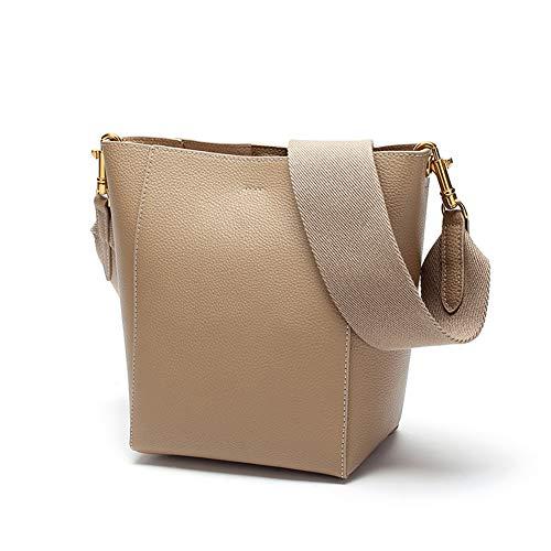 Lrxhgod borsa a secchiello borsa in pelle da donna/donna/donna borsa a tracolla larga borsa a tracolla,apricot