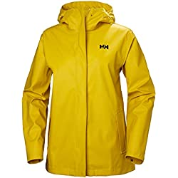 Helly Hansen Moss Outdoor Chaqueta Impermeable, Mujer, Essential Yellow, S