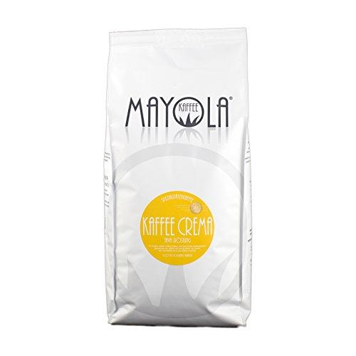 Spezialitäten-Kaffee Mayola Kaffee ganze-geröstete-Bohnen für Kaffeevollautomat Crema...