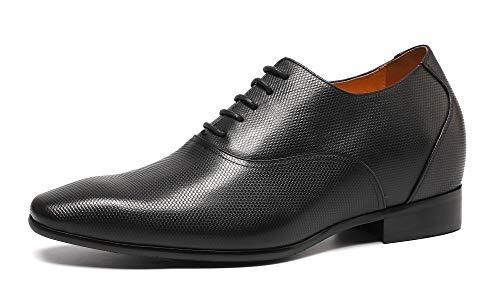 CHAMARIPA Elevador Zapatos Para Hombre Negro Oxford