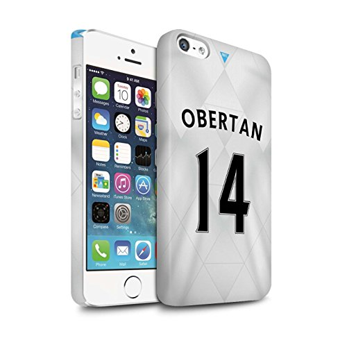 Offiziell Newcastle United FC Hülle / Matte Snap-On Case für Apple iPhone 5/5S / Pack 29pcs Muster / NUFC Trikot Away 15/16 Kollektion Obertan
