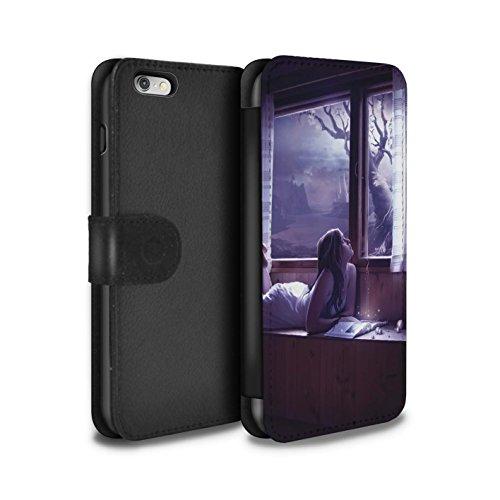 Officiel Elena Dudina Coque/Etui/Housse Cuir PU Case/Cover pour Apple iPhone 6S+/Plus / Relation amicale Design / Art Amour Collection Distraits