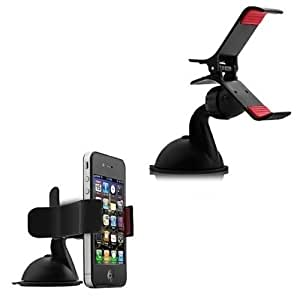 Gadget Decor Smartphone Car Mount Holder with suction cup - Multi-angle 360° Degree Rotating Clip Windshield Dashboard BENTLEY Flying Spur