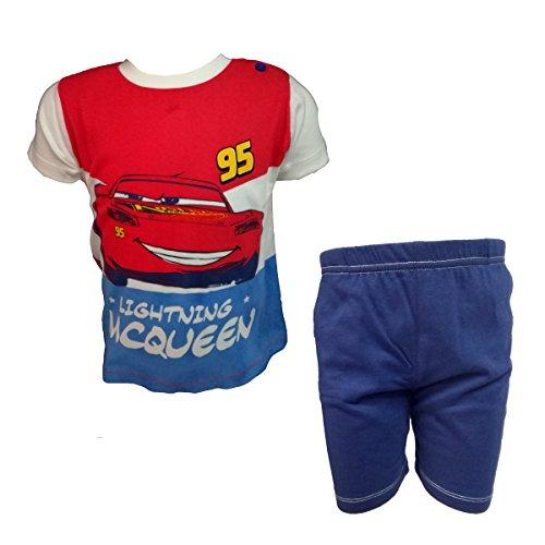 Disney completo neonato mezza manica pantaloncino in cotone cars nuova collezione art. wd101316 (marine, 36 mesi)