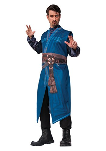 Dr Strange Men's Costume Scifi Doctor Marvel Comic Book Week Adults Fancy Dress (XL Up to 46