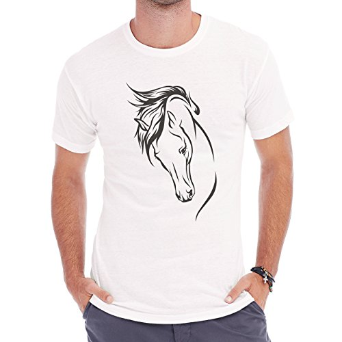 Horse Animal Pony Stud beautifuk Herren T-Shirt Weiß