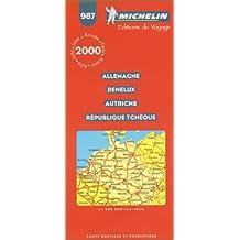 Allemagne - Benelux - Autriche - République Tchèque. Carte numéro 987 - échelle 1/1000000,1cm = 10km
