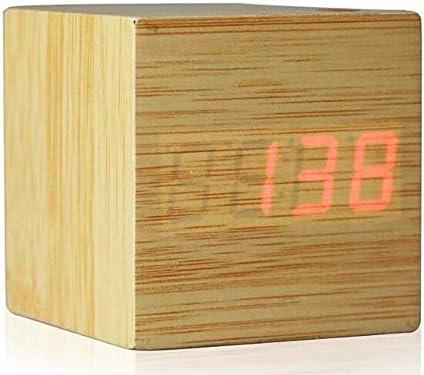 DollylaStore LED Bois Réveil Groupe électronique 3 Alarme Température numérique, 3 ( Size : 8 )   Extravagant