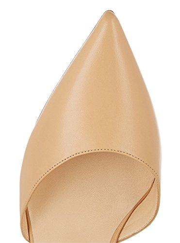Guoar - Scarpe chiuse Donna (Natural PU)