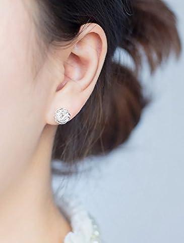 XJoel 925 Silber Pilz Nägel Männer und Frauen um Ohrringe Personalisierte Wolle Ball Ohrschmuck