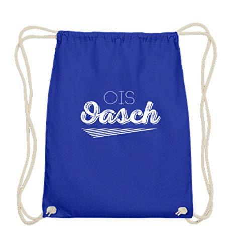 Ois Oasch Wiener Schmäh Dialekt Bayern Wien Österreich Mundart Jugendwort Oida T-shirt - Baumwoll Gymsac -37cm-46cm-Royales Blau