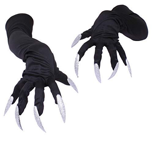Streiche Kostüm Scary - Halloween Horror Requisiten Fingernägel Handschuhe Krallen Kostüm Party Halloween Requisiten Halloween Süßes oder Saures Dekoration Gruseliges Streichspielzeug