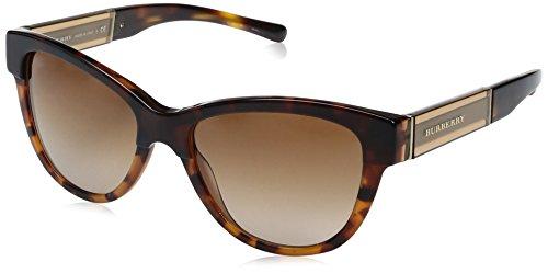 BURBERRY Unisex BE4206 Sonnenbrille, Braun (Havana 355913), One Size (Herstellergröße: 55)