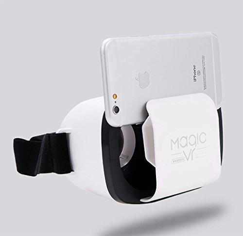 VR Brille/3D VR Virtual Reality Brille Headset 3D-VR-Brille für 3.7 ~ 5.5 Zoll Smartphones für...
