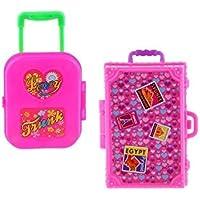 HINTER Lot de 2 valises à Rouler en Plastique pour Maison de poupée Barbie