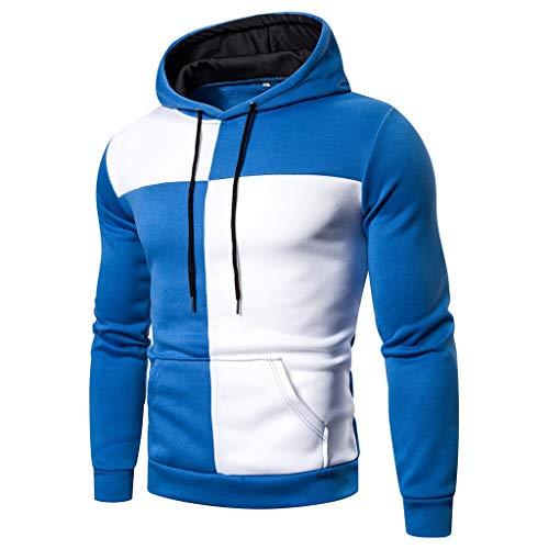 ➤Refill➤ Herren Kapuzenpullover Slim Fit Hoodie Sweatshirt Hooded Pullover Kapuzenjacke Hoodie mit hoch abschließendem Kragen