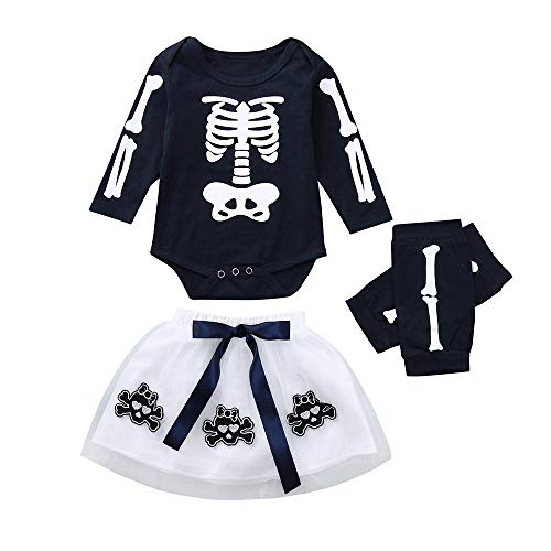 RYTEJFES Newborn Baby Mädchen Langarm Halloween Strampler Tutu Rock mit Beinwärmer Party Kostüm Kleidung Set - Party City Boy Kostüm