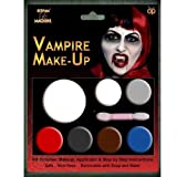 HALLOWEEN MAKE-UP MAKE-UP GESICHTSFARBE ZOMBIE VAMPIR HEXE CLOWN DEVIL FAMILIEN SET ROT WEIß SCHWARZ - Vampir Make-up,