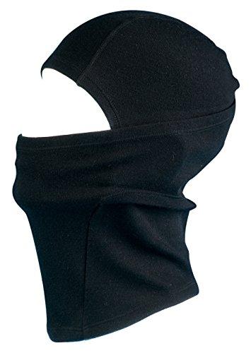Passamontagna termico in lana merino balaclava adulti - di alta qualità caldo traspirante anti umidità & resistente al vento. adatto per inverno & estate per ciclismo moto sci ecc. (nero)