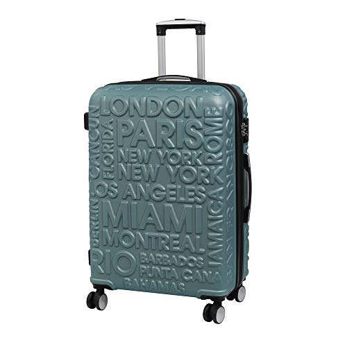 it luggage Destinations Ii - 8 Wheel Hard Shell Single Expander Suitcase With Tsa Lock Valigia, 70 cm, 107 liters, Grigio (Ice Blue)