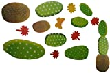 Unbekannt 13 tlg. Set Wandtattoo XL Kaktus Kakteen Wüste Strauch Blume Blumen Aufkleber