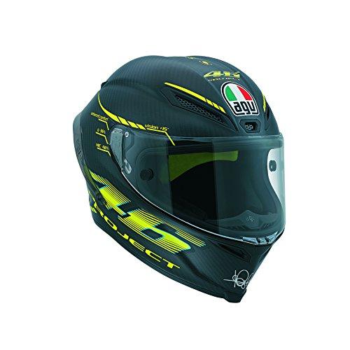 AGV Casco Runway GP E2205Top W, color Negro/Amarillo, talla 4
