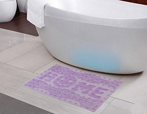 Tapis de bain de juillet Tapis de bain Tapis de bain Tapis de bain Matelas de salle de bain Ottomans (Couleur : Purple)