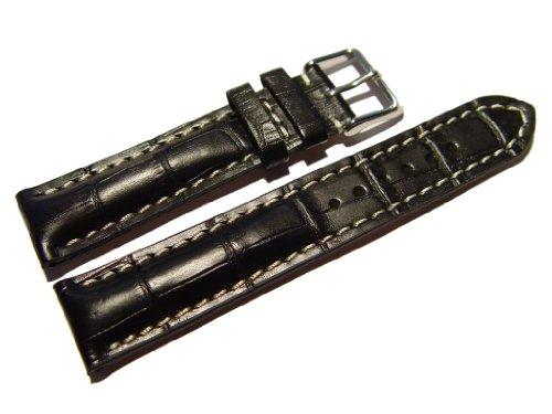 orig-watchband-berlin-uhrenarmband-stark-gepolstert-kroko-pragung-schwarz-22mm