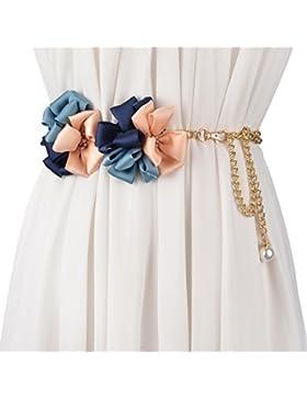 Moda Flor Grande Metal Cadenas En La Cintura/Cinturón De Dulce Comodín