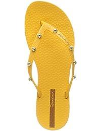 Amazon.es  Amarillo - Sandalias y chanclas   Zapatos para mujer ... 3f3bf152317