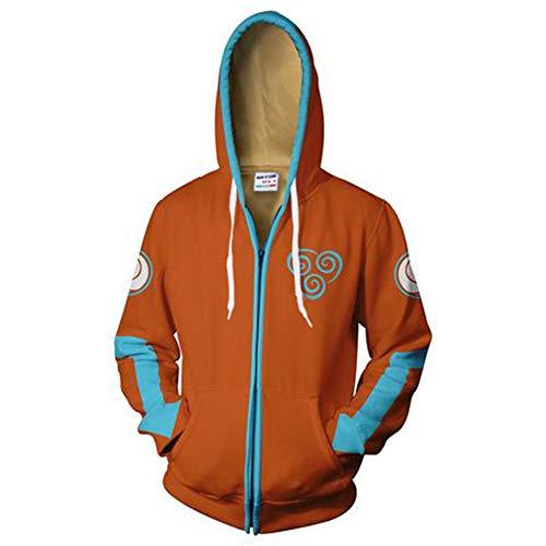 tshirt Unisex Pullover Kapuzenjacke Kleidung Mantel Reißverschluss The Last Airbender M ()
