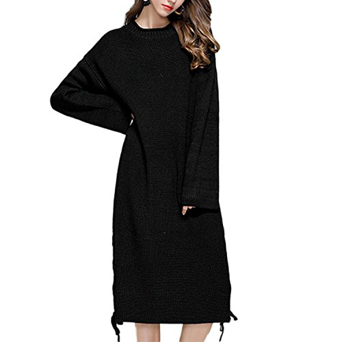 JLTPH Femme Casual Manches Longues Knit Sweater Robe Pull Robe Tricote Col Roulé Tricots Sweater Jumper color2