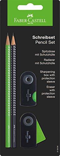Faber-Castell 218494 Sparkle – Juego de 2 lápices, color verde y negro