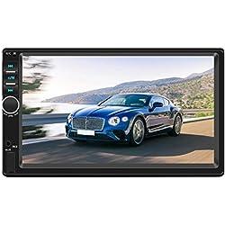 """Crazystore Lecteur multimédia stéréo Full HD 1080P avec Radio FM, Bluetooth Android 8.1 GPS avec écran 7"""", 2 DIN dans Le Tableau de Bord avec processeur Arm Quad-Core"""
