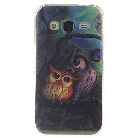 Nancen Samsung Galaxy Core Prime SM-G360 G361 (4,5 pouces) Coque. Housse Etui Protection Full Silicone Ultra Mince Souple Fine Gel TPU Couverture Arrière Anti-rayures Backcover Cas de Téléphone