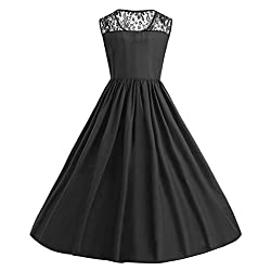 Plus Size Party Dress Women, Xinantime Ladies Lace Patchwork Print Dress Butterfly Evening Prom Swing Dress