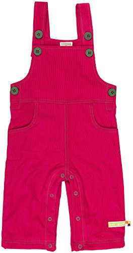 loud + proud Unisex Baby Latzhose Cord, Violett (Berry Ber), 68 (Herstellergröße: 62/68)