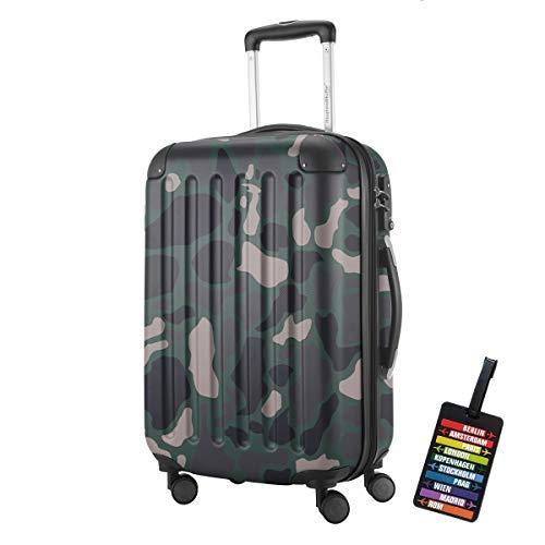 Hauptstadtkoffer - Spree Hartschalen-Koffer-XL Koffer Trolley Rollkoffer Reisekoffer Erweiterbar, 4 Rollen, TSA, 75 cm, 119 Liter, Camouflage +Design...
