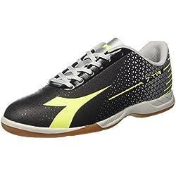 Diadora 7-Tri ID, Zapatos de Futsal para Hombre, Negro (Nero Giallo FL DD Argento DD), 44 EU