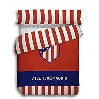 Atlético de Madrid. Juego Funda Nórdica de 3 piezas Oficial del Club. ATM 2018. (Cama 105 cm)