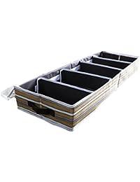Stockage des chaussures, Aomeiqi 5 paires imperméable à l'eau pour les chaussures pour les chaussures Organiser les boîtes avec Clear Window Secure Zipper Closure, Stripe (33.46 x 11.81 x 4.72 inch)