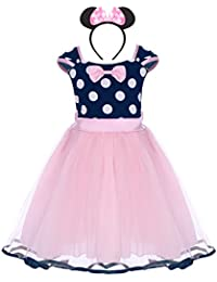 84991d3b6 Infant Baby Toddlers Girls Polka Dots Birthday Princess Bowknot Tutu Dress  Cosplay Pageant Dress up Carnival