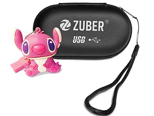 Zuber® novità carino rosa stitch usb drive memory stick–sveglia con chiavetta usb 2.0flash drive ad alta velocità e ampia compatibilità–great gift idea 32 gb